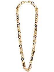 Ashley Pittman Oval Link Chain Necklace Brown