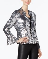 Inc International Concepts Petite Sequined Jacket Only At Macy's Silver