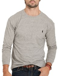 Polo Big And Tall Cotton Jersey Long Sleeve Tee Grey