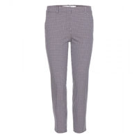 Victoria Beckham Tartan Straight Leg Cropped Trousers