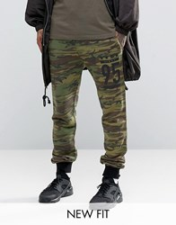 Asos Skinny Joggers With Camo Print Camo Green