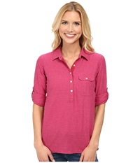 Outdoor Research Coralie L S Shirt Sangria Women's Long Sleeve Pullover Red