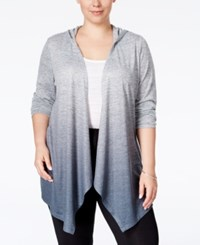 Styleandco. Style And Co. Plus Size Dip Dyed High Low Cardigan Only At Macy's Deep Black