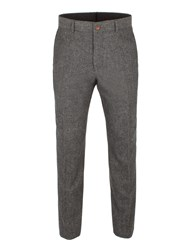 Gibson Men's Grey Herringbone Trouser Grey