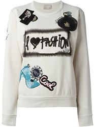Lanvin Applique Detailing Sweatshirt Nude And Neutrals