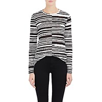 Proenza Schouler Women's Blurred Stripe T Shirt Black White Black White