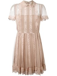 Red Valentino Lace Dress Pink And Purple