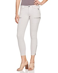 Joie Park Skinny Ankle Zip Pants Soft Cement