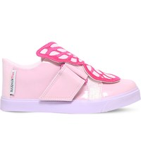 Sophia Webster Bibi Low Top Mini Leather Trainers Pink