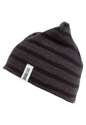 Pier One Hat Dark Grey Melange Black Mottled Dark Grey