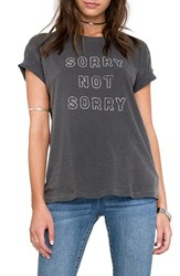Amuse Society Women's Graphic Tee Charcoal