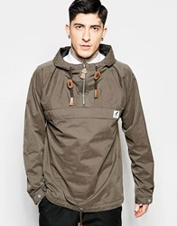 Fat Moose Sailor Overhead Jacket In Grey Grey