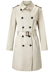 Four Seasons Double Breasted Trench Coat Natural