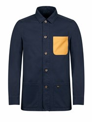 Realm And Empire Lightweight Cotton Pocket Detail Jacket Navy