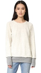 Monrow Double Layer Sweatshirt Oatmeal Dark Heather