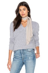 Vince Low V Neck Sweater Gray