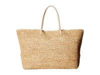 Hat Attack Luxe Tote With Vachetta Handles Natural Tote Handbags Beige
