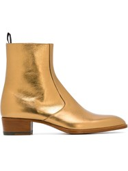 Saint Laurent 'Signature Hedi' Boots Metallic