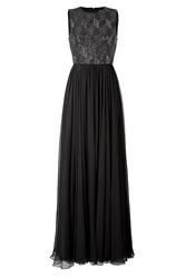 Jenny Packham Silk Gown In Licorice