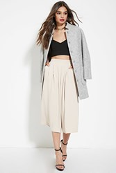 Forever 21 Pleated Front Culottes Taupe