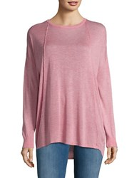 Bench Boat Neck Long Sleeve Knit Top Pink