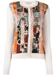 Emilio Pucci Abstract Striped Print Cardigan Pink And Purple