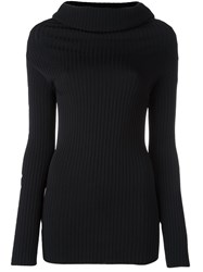 Valentino Cowl Neck Jumper Black
