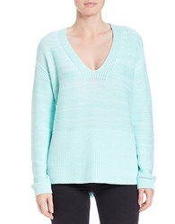 Lord And Taylor Oversized V Neck Pullover Aqua Splash