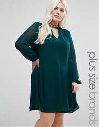 Alice And You Retro Keyhole Dress Green