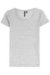 Woolrich Linen Silk T Shirt Grey