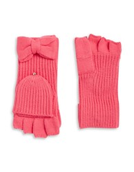 Kate Spade Bow Accented Convertible Gloves Costume Pink