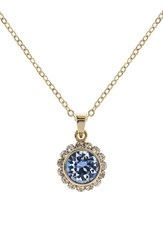 Women's Ted Baker London Crystal Pendant Necklace Light Blue
