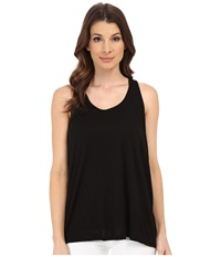 Michael Stars Luxe Slub Racerback Tank Top Black Women's Sleeveless