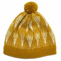 Hilary Grant Loki Pom Hat In Mustard