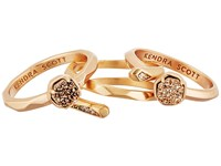 Kendra Scott Warren Ring Rose Gold Rose Gold Drusy Cubic Zirconia Ring