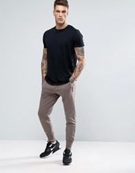 Pull And Bear Pullandbear Skinny Joggers With Zip Detail In Khaki Khaki Green