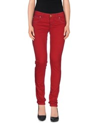 Maison Clochard Trousers Casual Trousers Women Red