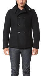 Gerald And Stewart By Fidelity Wool Quilt Lined Pea Coat Yankee Navy