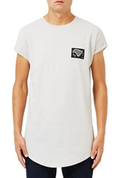 Topman Men's Nyc 98 Graphic Longline Crewneck T Shirt