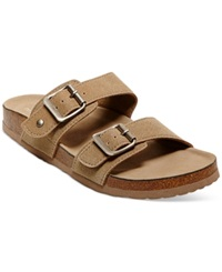 Madden Girl Madden Girl Brando Footbed Sandals Women's Shoes Taupe Microsuede
