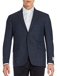 Todd Snyder Mayfair Fit Plaid Wool Sportcoat Dark Blue