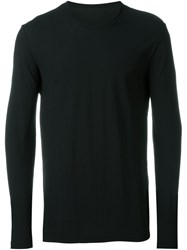 Uma Wang Relaxed Fit Jersey Long Sleeve Shirt Black