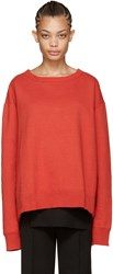 Facetasm Red Crewneck Sweatshirt