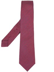 Kiton Patterned Tie Red