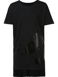 Barbara I Gongini Foil Print T Shirt Black