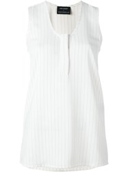 Anthony Vaccarello Stripe Tank Top White