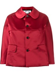 Comme Des Garcons Cropped Boxy Jacket Red