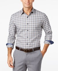 Tasso Elba Long Sleeve Check Shirt Only At Macy's Dreamy Chalk