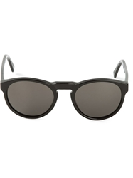 Retro Super Future Oval Frame Sunglasses Black