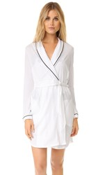 Only Hearts Club Piped Robe White Black